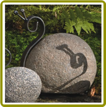 Riverstone/Metal Snail Large