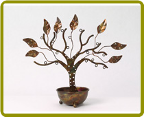 Jewelry Tree with Bowl Large