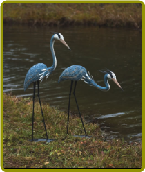 Pair of Steel Herons
