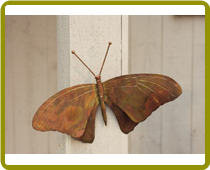 Butterfly Wall Mount Flamed Copper
