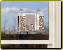 Super Songbird One Way Mirror Window Bird Feeder