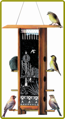 Cactus Dancers Teahouse Bird Feeder