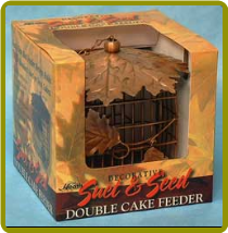 Decorative Double Leaf Suet Feeder