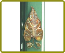 Leaf Thermometer Copperplated