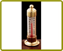 Vermont Desk Thermometer Brass