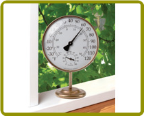 Vermont Portable Weather Station Brass
