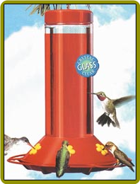 Glass Hummingbird Feeder `OUR BEST`