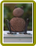 Riverstone/Metal Sitting Frogs Small