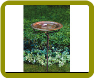 Solid Copper Birdbath w/Iron