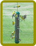 Green Spiral Finch Tube Feeder 17 in.