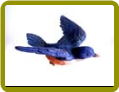 Blue Bird Window Magnet