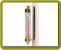 Vermont Outdoor Thermometer Brass
