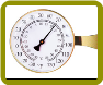 Vermont Large Dial Thermometer Brass