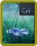 Illuminarie Hanging Swirl Glass Birdbath/Feeder