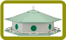 6-Room Starter Aluminum Purple Martin House