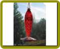 Ruby Crystal Spiral Hummingbird Feeder