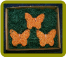 3 pk Ornament Butterfly