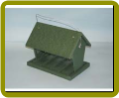 Recycled Hopper Bird Feeder-Hunter Green-4 qts.