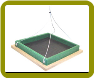 Small Hanging Platform Feeder