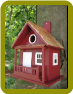 The Kottage Kabin Birdhouse Redwood