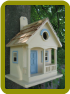 Pacific Grove Birdhouse Yellow Blue